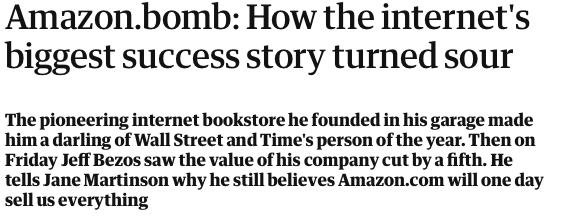 Lessons on investing Amazon.bomb